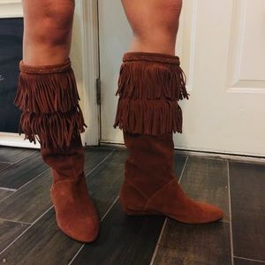 Gianni bini boots tan leather excellent condition